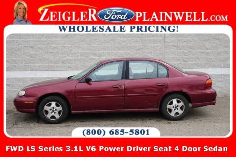 2003 Chevrolet Malibu for sale at Zeigler Ford of Plainwell- Jeff Bishop in Plainwell MI
