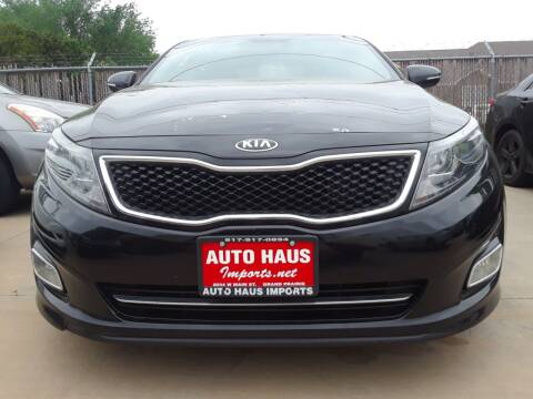 2015 Kia Optima for sale at Auto Haus Imports in Grand Prairie TX