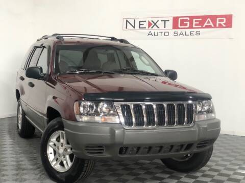 2002 Jeep Grand Cherokee for sale at Next Gear Auto Sales in Westfield IN