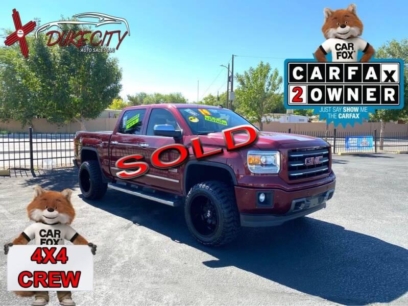 2014 GMC Sierra 1500 for sale at DUKE CITY AUTO SALES in Albuquerque NM