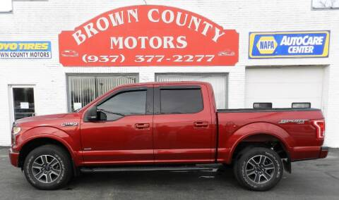 2016 Ford F-150 for sale at Brown County Motors in Russellville OH