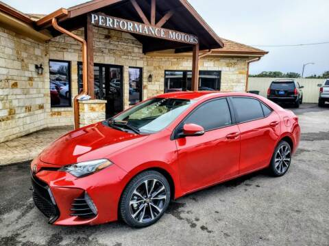 2019 Toyota Corolla for sale at Performance Motors Killeen Second Chance in Killeen TX