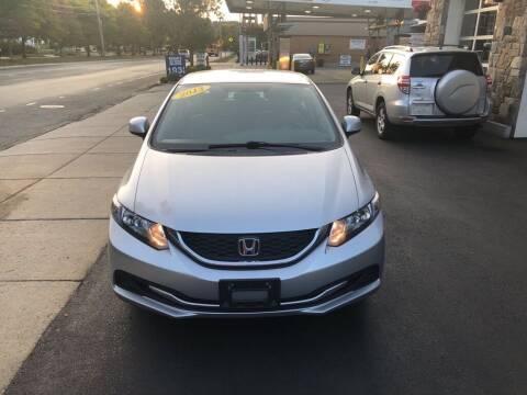 2013 Honda Civic for sale at Regans Automotive Inc in Auburndale MA
