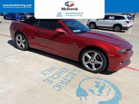 2014 Chevrolet Camaro for sale at DAVID McDAVID HONDA OF IRVING in Irving TX