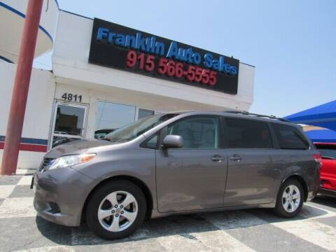 2011 Toyota Sienna for sale at Franklin Auto Sales in El Paso TX