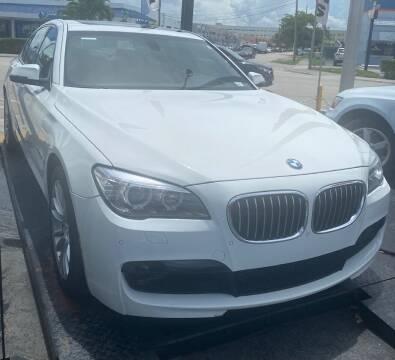 2013 BMW 7 Series for sale at Navarro Auto Motors in Hialeah FL