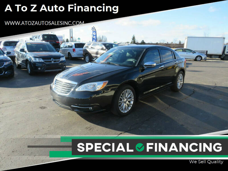 2011 Chrysler 200 for sale at A to Z Auto Financing in Waterford MI