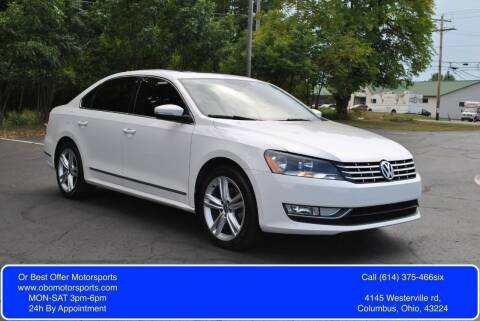 2014 Volkswagen Passat for sale at Or Best Offer Motorsports in Columbus OH