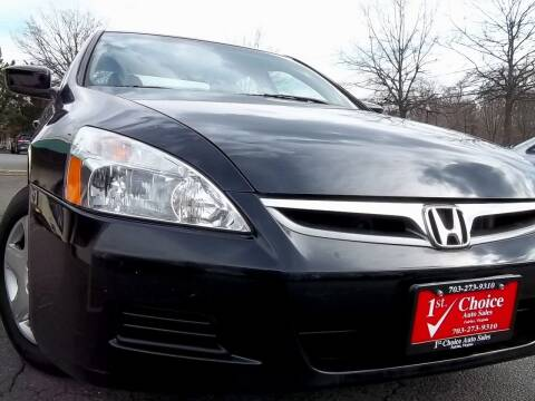 2007 Honda Accord for sale at 1st Choice Auto Sales in Fairfax VA