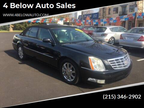 2007 Cadillac DTS for sale at 4 Below Auto Sales in Willow Grove PA