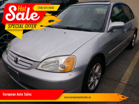 2002 Honda Civic for sale at European Auto Sales in Bridgeview IL