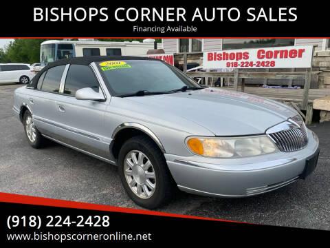 2001 Lincoln Continental for sale at BISHOPS CORNER AUTO SALES in Sapulpa OK