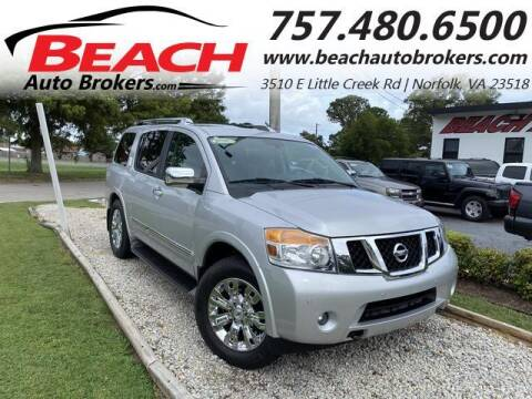 2015 Nissan Armada for sale at Beach Auto Brokers in Norfolk VA