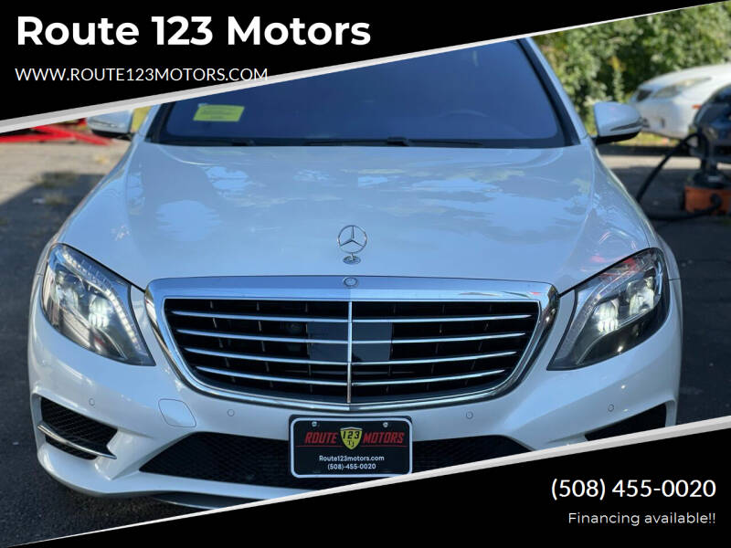 2014 Mercedes-Benz S-Class for sale at Route 123 Motors in Norton MA