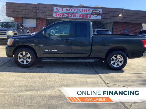 2008 Nissan Titan for sale at A-1 Motors in Virginia Beach VA