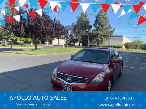 2008 Nissan Altima for sale at APOLLO AUTO SALES in Sacramento CA