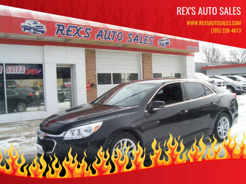 2015 Chevrolet Malibu for sale at Rex's Auto Sales in Junction City KS