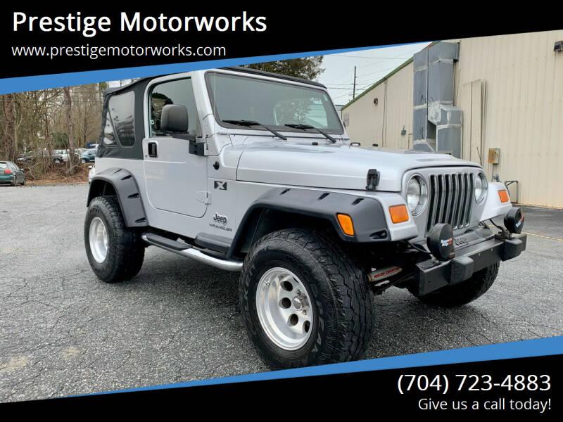 2005 Jeep Wrangler for sale at Prestige Motorworks in Concord NC