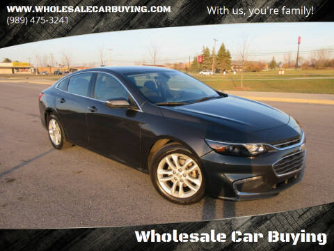 2016 Chevrolet Malibu for sale at Wholesale Car Buying in Saginaw MI