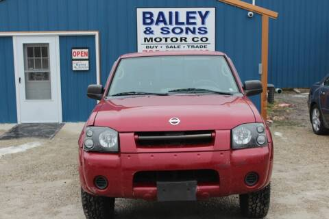 2002 Nissan Frontier for sale at Bailey & Sons Motor Co in Lyndon KS