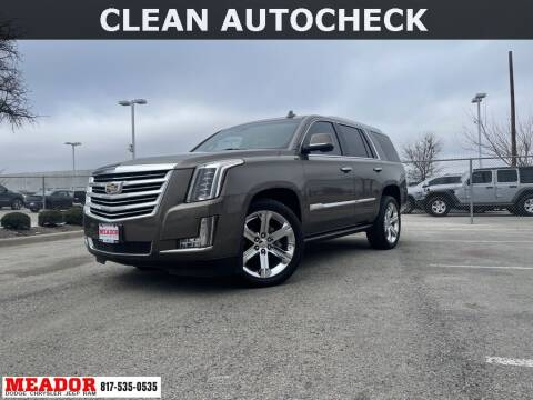 2016 Cadillac Escalade for sale at Meador Dodge Chrysler Jeep RAM in Fort Worth TX