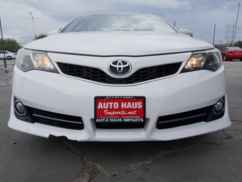 2012 Toyota Camry for sale at Auto Haus Imports in Grand Prairie TX