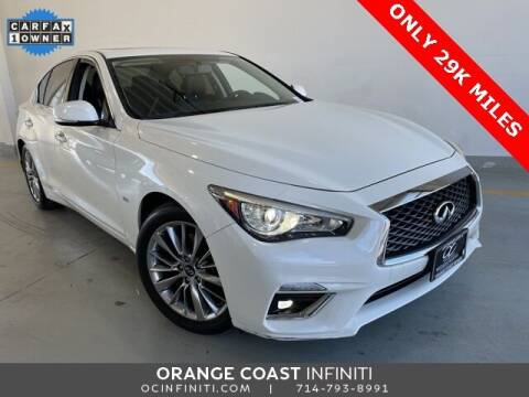 2018 Infiniti Q50 for sale at ORANGE COAST CARS in Westminster CA