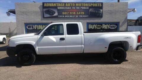 2005 Chevrolet Silverado 3500 for sale at Advantage Motorsports Plus in Phoenix AZ