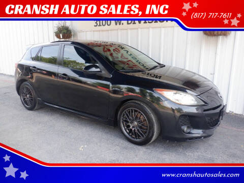 2012 Mazda MAZDA3 for sale at CRANSH AUTO SALES, INC in Arlington TX