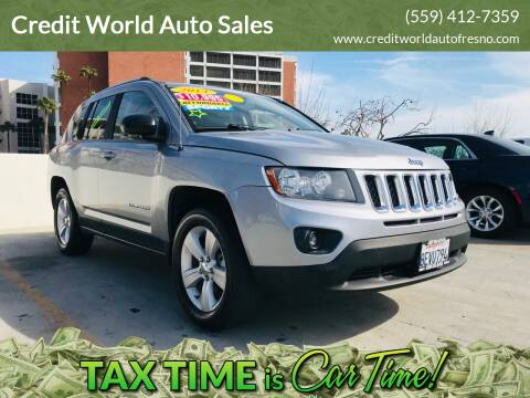 2014 Jeep Compass for sale at Credit World Auto Sales in Fresno CA