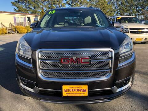 2013 GMC Acadia for sale at Washington Motor Company in Washington NC