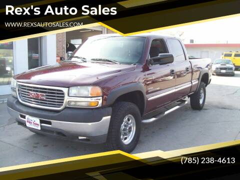 2002 GMC Sierra 2500HD for sale at Rex's Auto Sales in Junction City KS