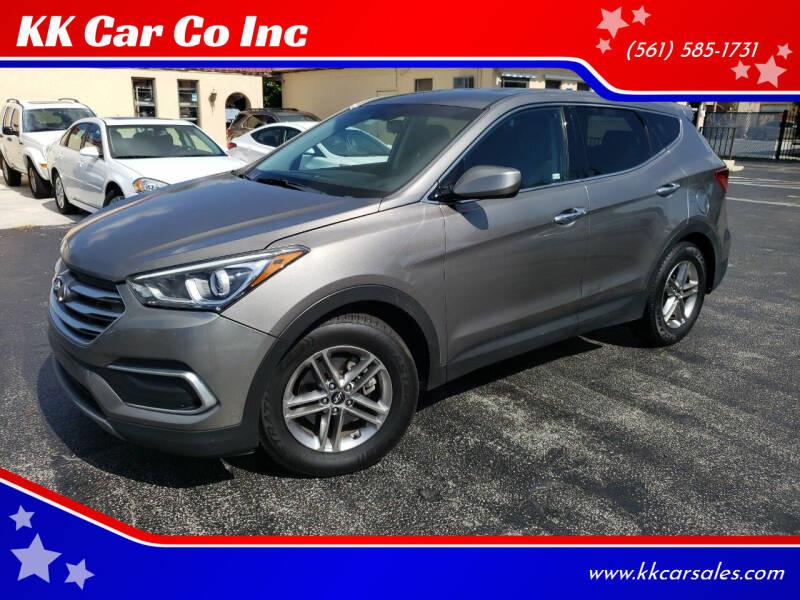 2018 Hyundai Santa Fe Sport for sale at KK Car Co Inc in Lake Worth FL