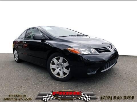 2008 Honda Civic for sale at PRIME MOTORS LLC in Arlington VA