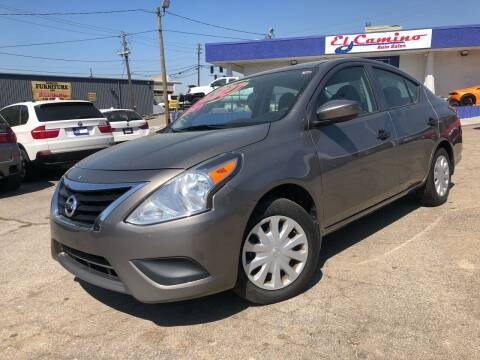 2017 Nissan Versa for sale at el camino auto sales in Gainesville GA