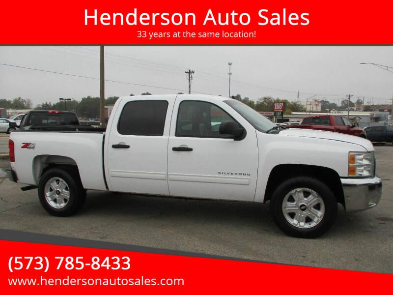 2012 Chevrolet Silverado 1500 for sale at Henderson Auto Sales in Poplar Bluff MO