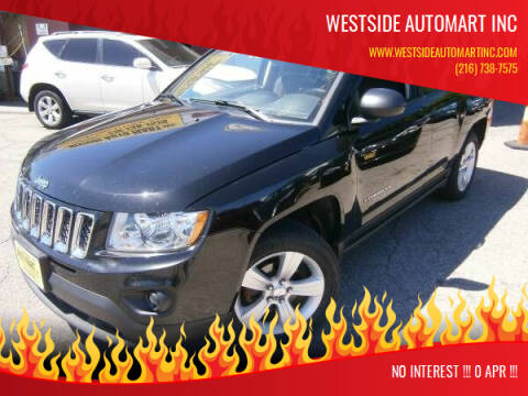 2013 Jeep Compass for sale at WESTSIDE AUTOMART INC in Cleveland OH