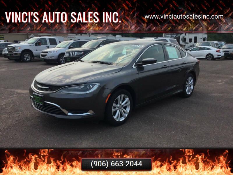 2015 Chrysler 200 for sale at Vinci's Auto Sales Inc. in Bessemer MI