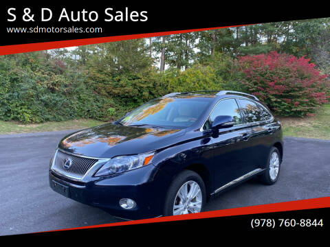 2010 Lexus RX 450h for sale at S & D Auto Sales in Maynard MA