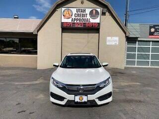 2016 Honda Civic for sale at Utah Credit Approval Auto Sales in Murray UT