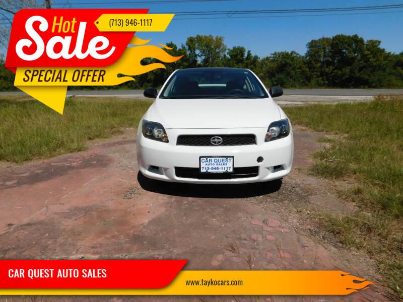 2009 Scion tC for sale at CAR QUEST AUTO SALES in Houston TX