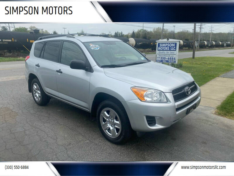 2009 Toyota RAV4 for sale at SIMPSON MOTORS in Youngstown OH