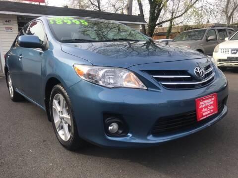 2013 Toyota Corolla for sale at Alexander Antkowiak Auto Sales in Hatboro PA
