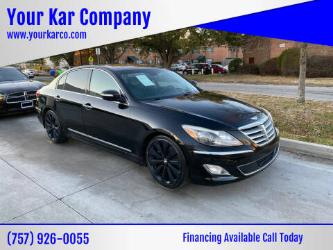 2012 Hyundai Genesis for sale at Your Kar Company in Norfolk VA