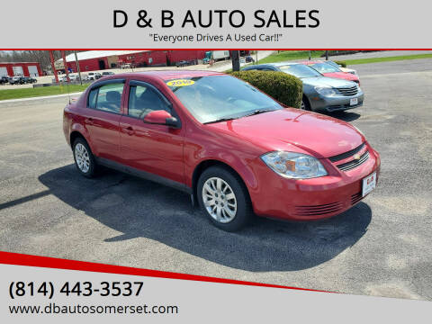 2010 Chevrolet Cobalt for sale at D & B AUTO SALES in Somerset PA