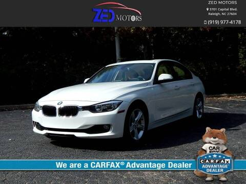 2013 BMW 3 Series for sale at Zed Motors in Raleigh NC