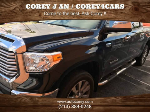 2016 Toyota Tundra for sale at WWW.COREY4CARS.COM / COREY J AN in Los Angeles CA