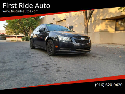 2013 Chevrolet Cruze for sale at First Ride Auto in Sacramento CA