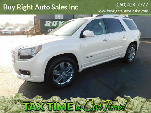 2013 GMC Acadia for sale at Buy Right Auto Sales Inc in Fort Wayne IN