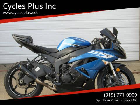 2011 Kawasaki Ninja ZX-6R for sale at Cycles Plus Inc in Garner NC